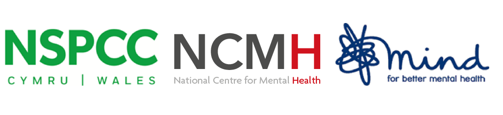 NSPCC Wales, NCMH and Mind logo