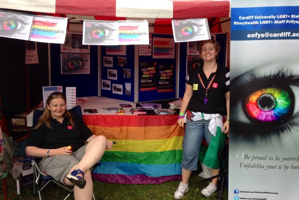 Enfys stand at Cardiff Pride