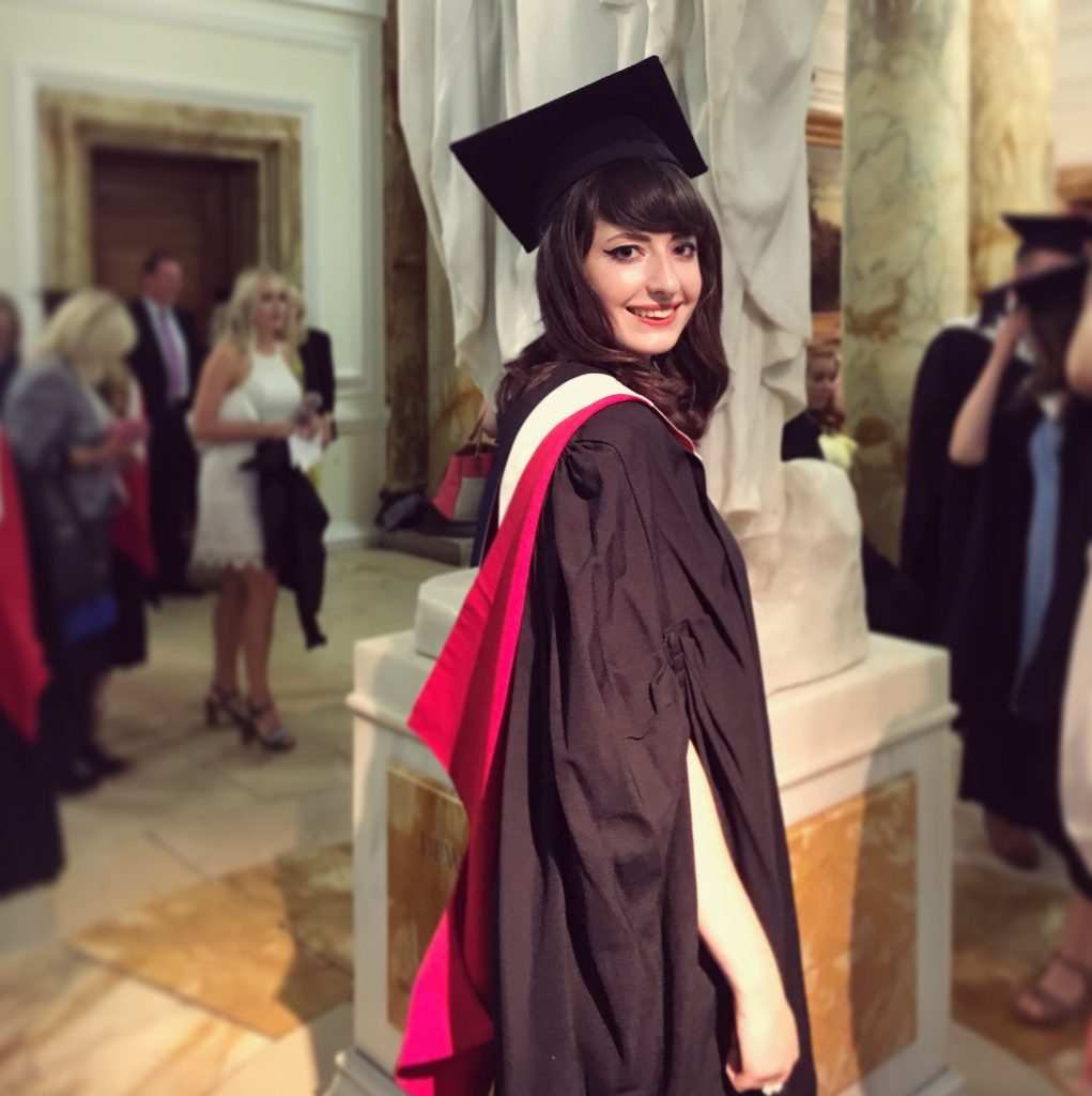 young woman graduating from Cardiff University