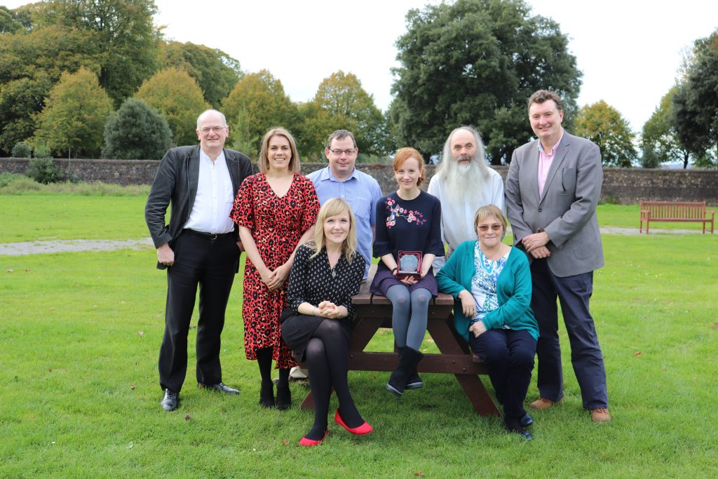 Photograph of PAR members with public involvement award in Cardiff